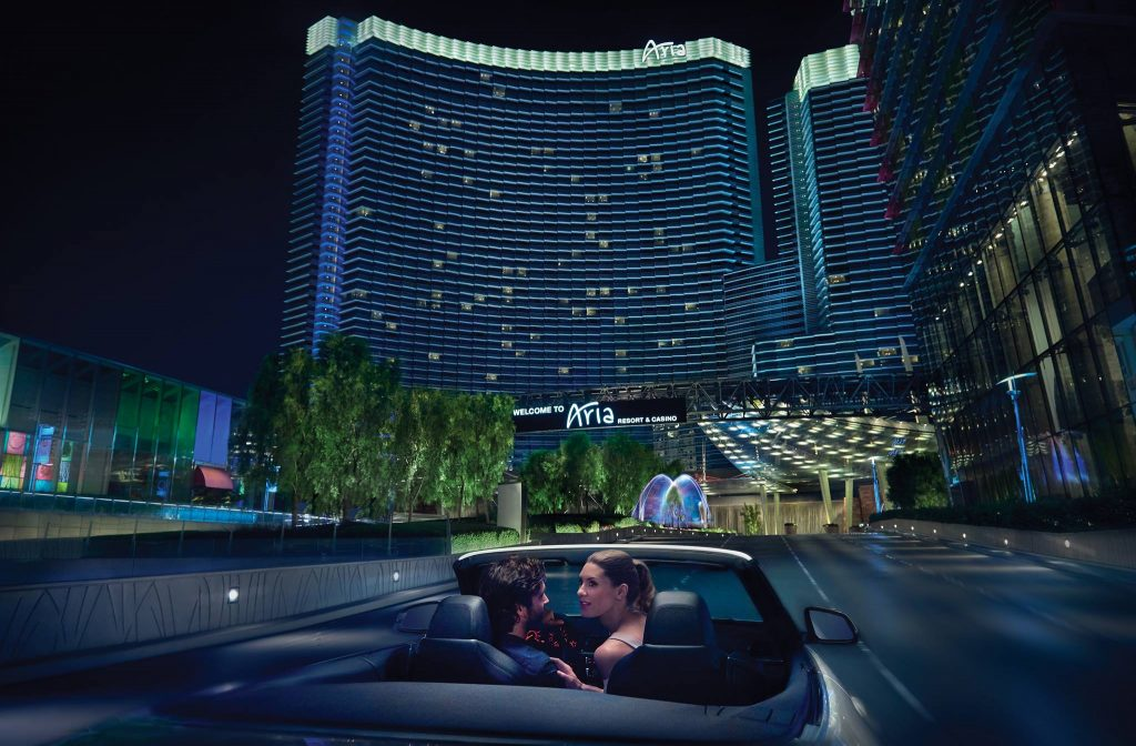 Casinos resorts like this one in Vegas can make perfect wedding destinations.